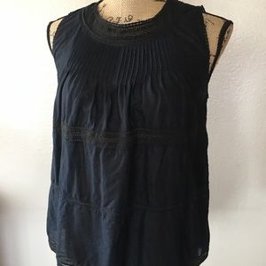 Madewell Memento black lace tank top/ blouse